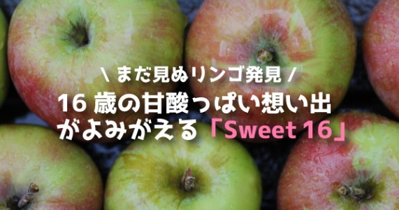 【16歳の甘酸っぱい想い出がよみがえる】スイート16(Sweet 16)りんごまとめ