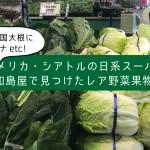 梅に赤バナナetc!シアトルの日系スーパー宇和島屋(Uwajimaya)で見つけたレア野菜果物10