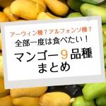キーツ?アルフォンソ?カラバオ?世界のマンゴー9品種まとめ