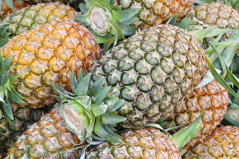 pineapple at street food