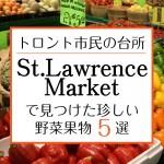 カナダ・トロントの観光名所セントローレンスマーケットで見つけた日本では珍しい野菜果物5選!
