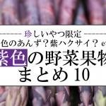 【珍しいやつ限定】紫色のアンズ&ハクサイ?紫の野菜果物まとめ10