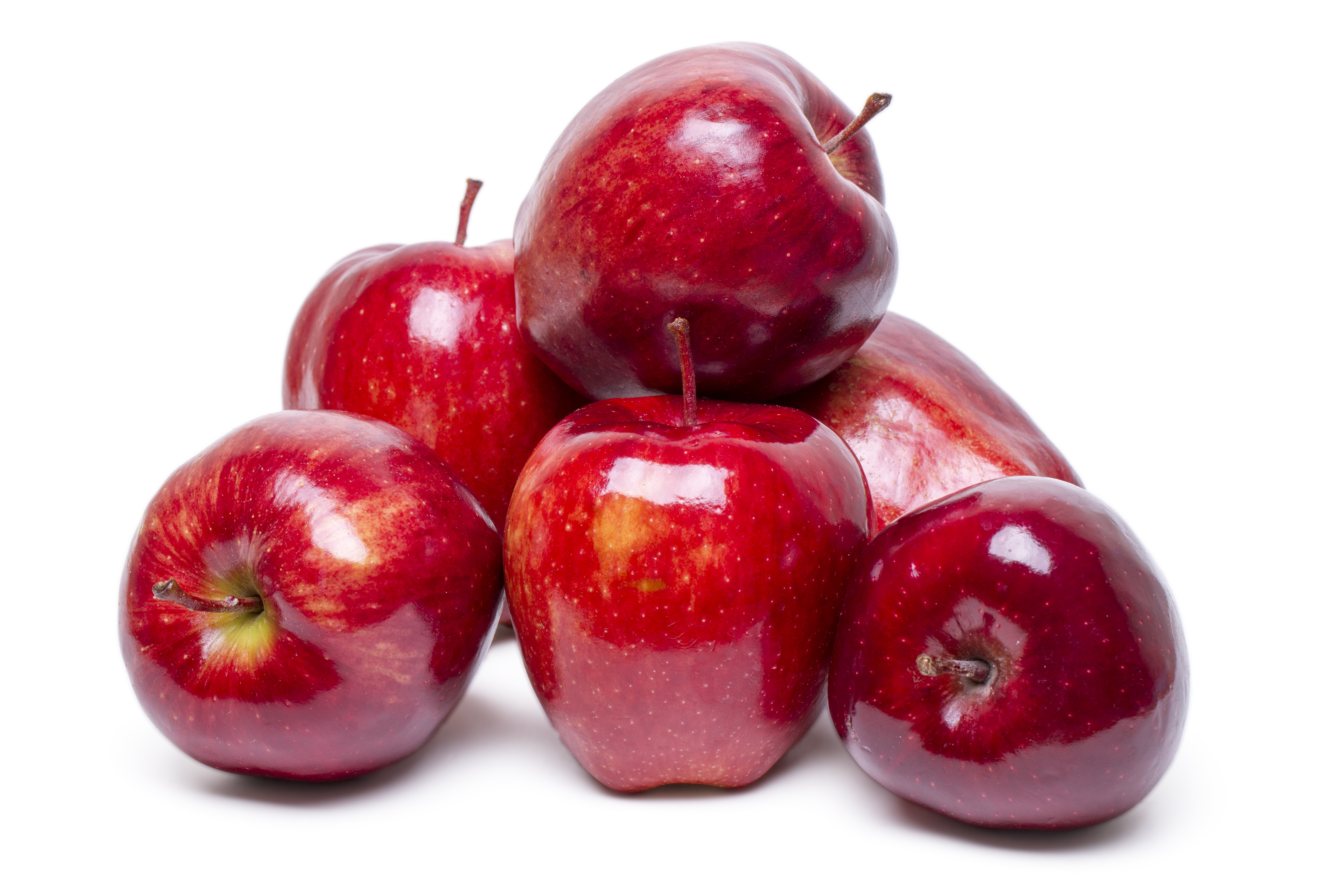 fresh and healthy red apples