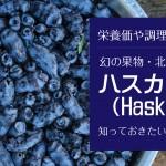 栄養価や調理例は?幻の果物・北海道特産のハスカップについて知っておきたいこと7つ