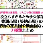 【永久保存版】豊洲市場(築地市場)の役立ちすぎる果物の家系図や断面図など7種類